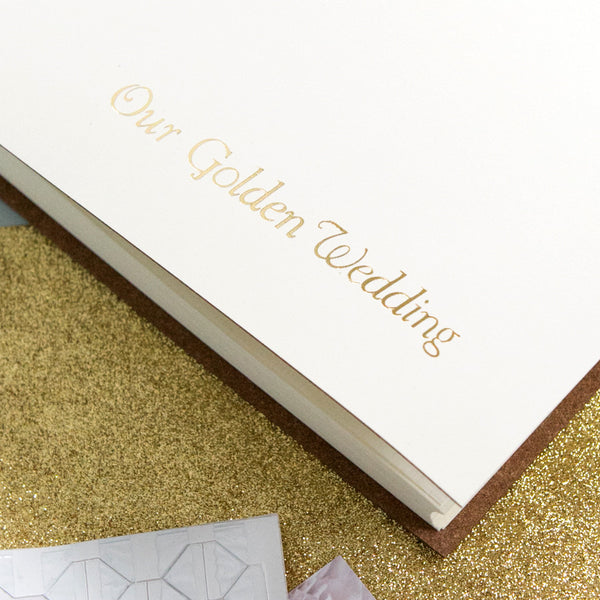 Golden wedding photo album