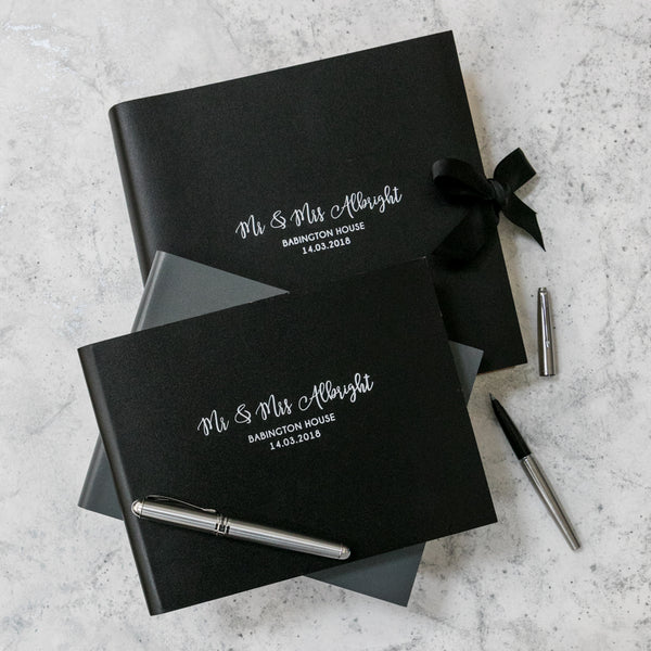 Monochrome Wedding Guest Book