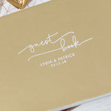 Signature Swirl Wedding Guest Book