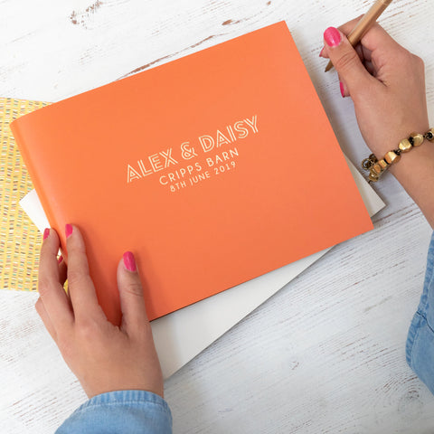 Cool And Colourful Wedding Guest Book