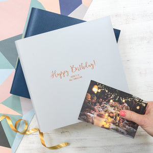 Personalised Leather Birthday Book