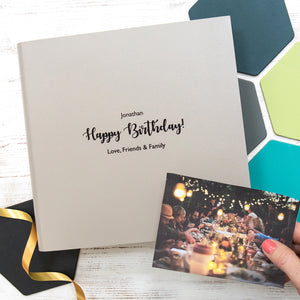 Personalised Leather Birthday Album