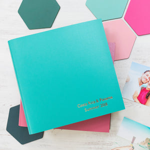 Personalised Leather Holiday Album