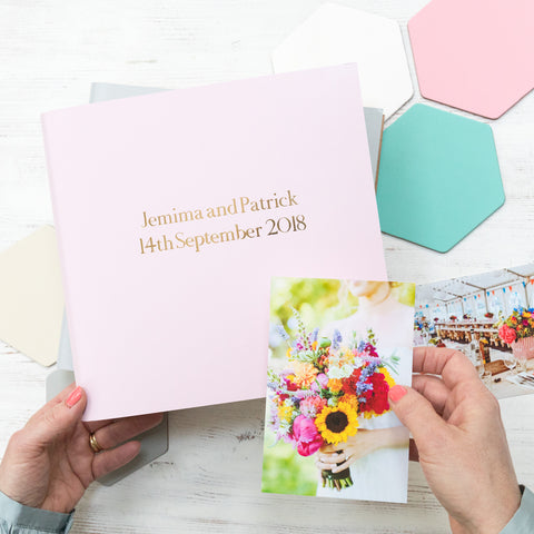 Soft Pastel Large Guest Book or Album