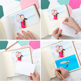Linen Family Photo Album with Contemporary Font