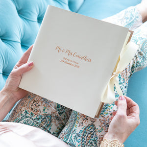 Traditional Bound Wedding Gift Memory Book