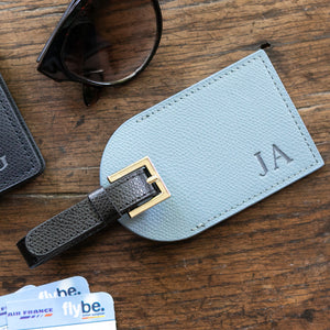 Personalised Luggage Tag made from Premium Recycled Leather