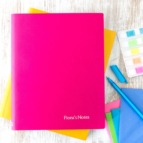 Large Personalised Colourful Leather Notebook