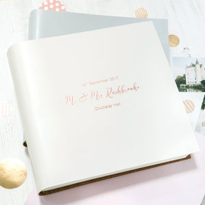 Personalised Leather Bound Wedding Album