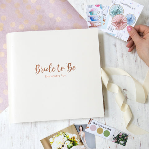 Leather Bound Bride To Be Book