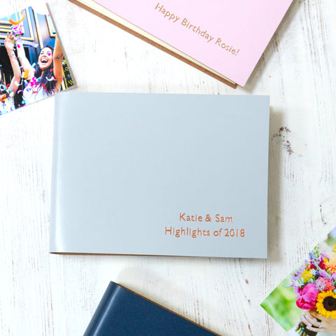 Photo Album Traditionally Bound in Recycled Leather - Small