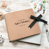 Personalised Large Natural Leather Guest Book