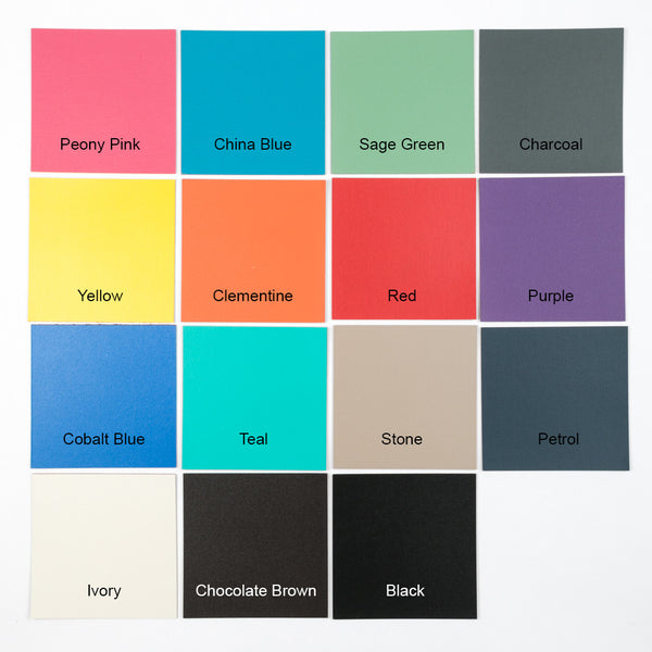 leather photo album swatches of colours