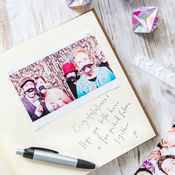 inside of botanical wedding album
