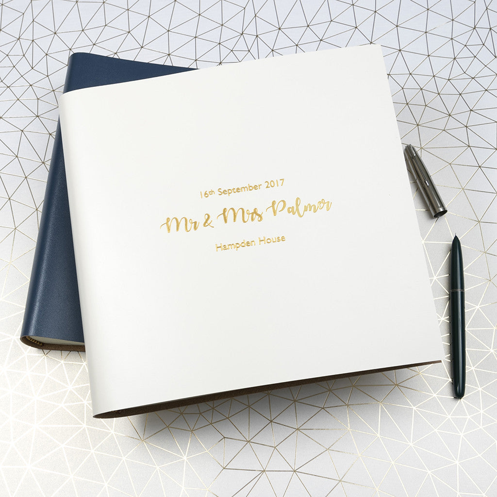 Wedding Photo Books Uk: Personalised Large Leather Wedding Guest Book