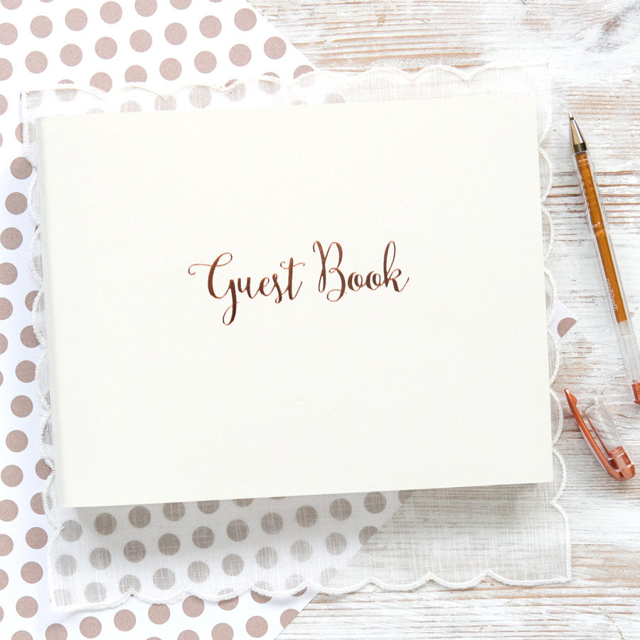 Rose Gold Guest Book