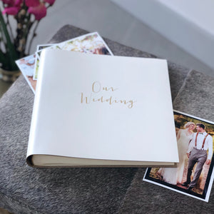 'Our Wedding' Leather Photo Album
