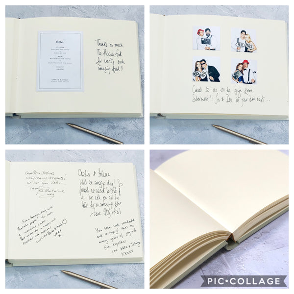 Personalised Landscape Wedding Guest Book in Butterscotch