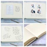 Beautifully Bespoke Large Landscape Wedding Guest Book