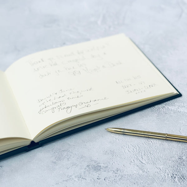 Beautifully Bespoke Guest Book with Crisp Font