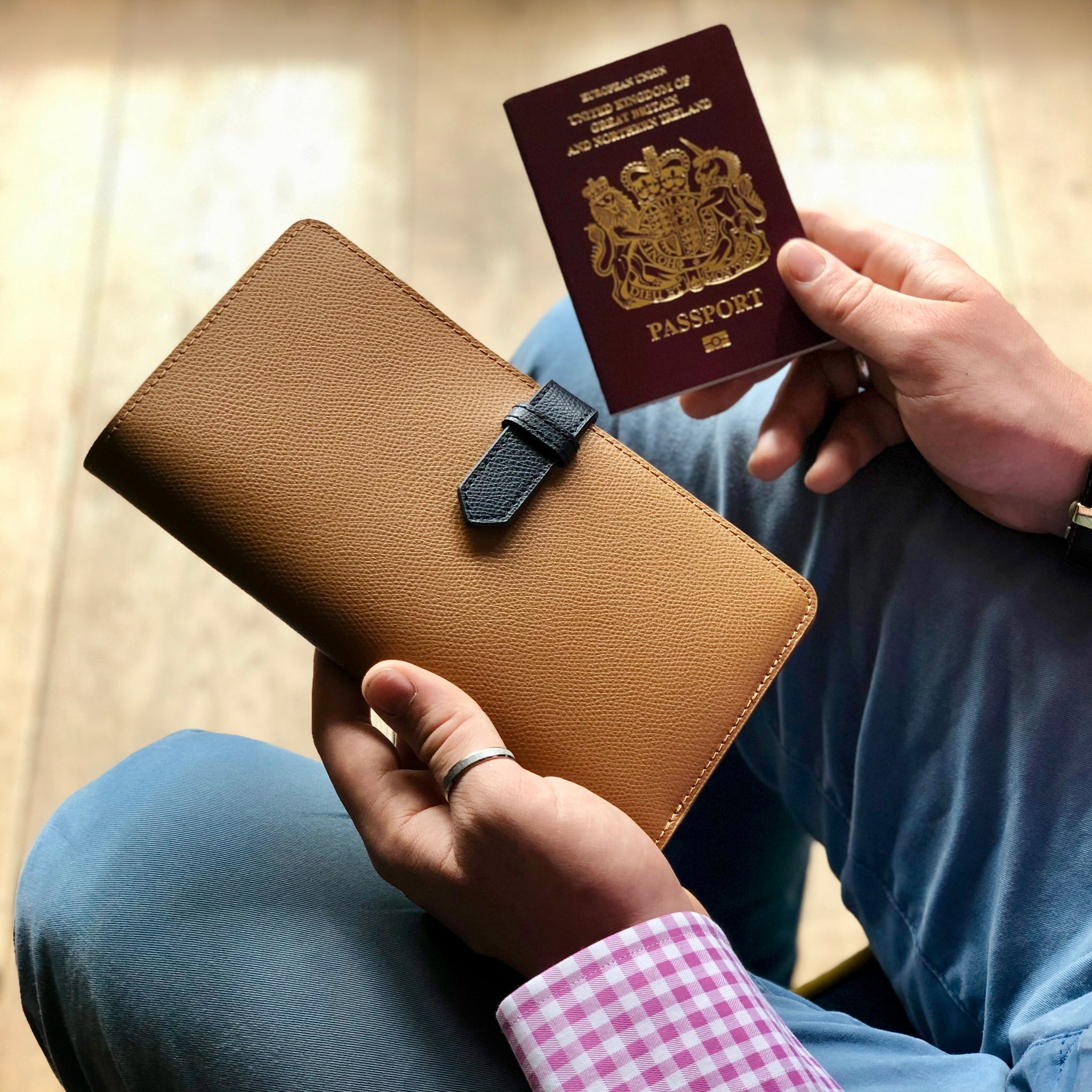 Personalised Luxury Leather Travel Wallet