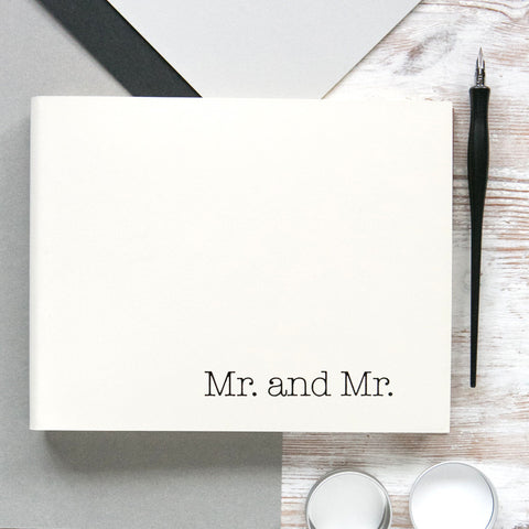 Mr. and Mr. Guest Book