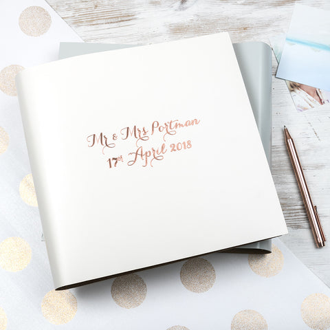 Modern Calligraphy Large Leather Guest Book