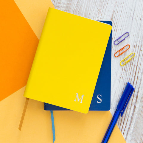 Slim Leather Monogram Notebook