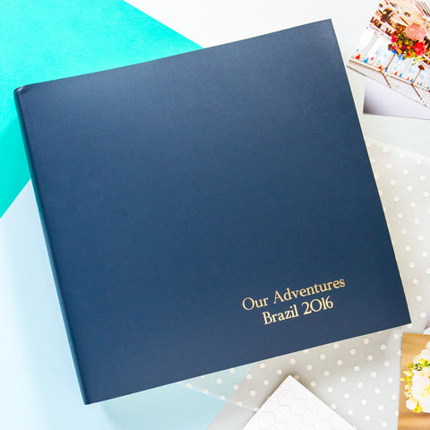 Large Photo Album with Traditional Font