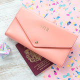personalised-peach-leather-travel-wallet