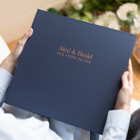 Bespoke and Handmade Anniversary Photo Album