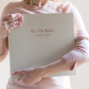 Beautiful Large Wedding Album with Bespoke Printing