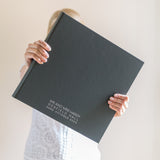 Beautifully Bespoke Large Wedding Album with Contemporary Font