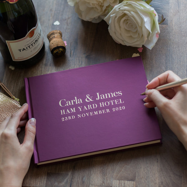 Opulent and Bespoke Wedding Guest Book