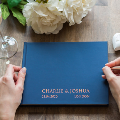Contemporary Bespoke Wedding Guest Book