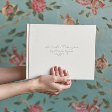 Beautifully Bespoke Calligraphy Wedding Guest Book