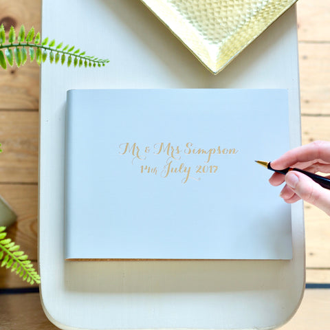 'Design Your Own' Leather Guest Book