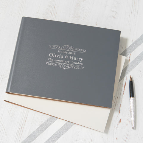 Guest Book with Traditional Logo Designed