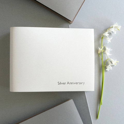 Personalised Silver Wedding Leather Photo Album