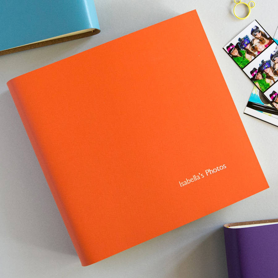Personalised Embossed Leather Photo Album Folio Albums Alternative