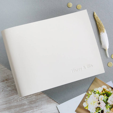 Personalised Small Leather Wedding Album