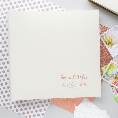 Rose Gold Large Wedding Album