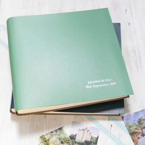 Large Photo Album Traditionally Bound in Recycled Leather - Personalised