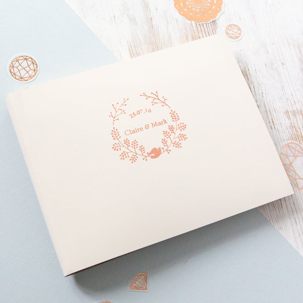 Create Your Own Wedding Logo Photo Guest Book or Album - 5 Design Options
