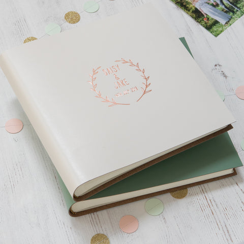 Select Your Own Logo Guest Book or Album