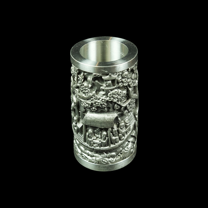 Antique Pewter Pen Caddy - DS1019