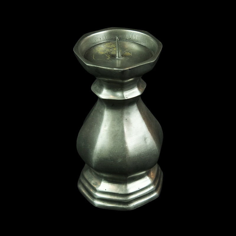 Antique Pewter Candle Holder - DS328S