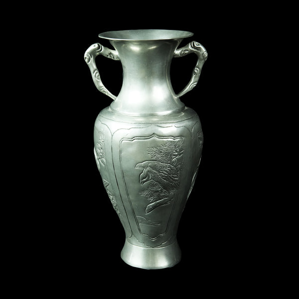 Antique Pewter Vase - DS517S