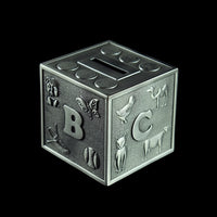 Pewter Coin Box (Alphabet Cube) - PF013-0005
