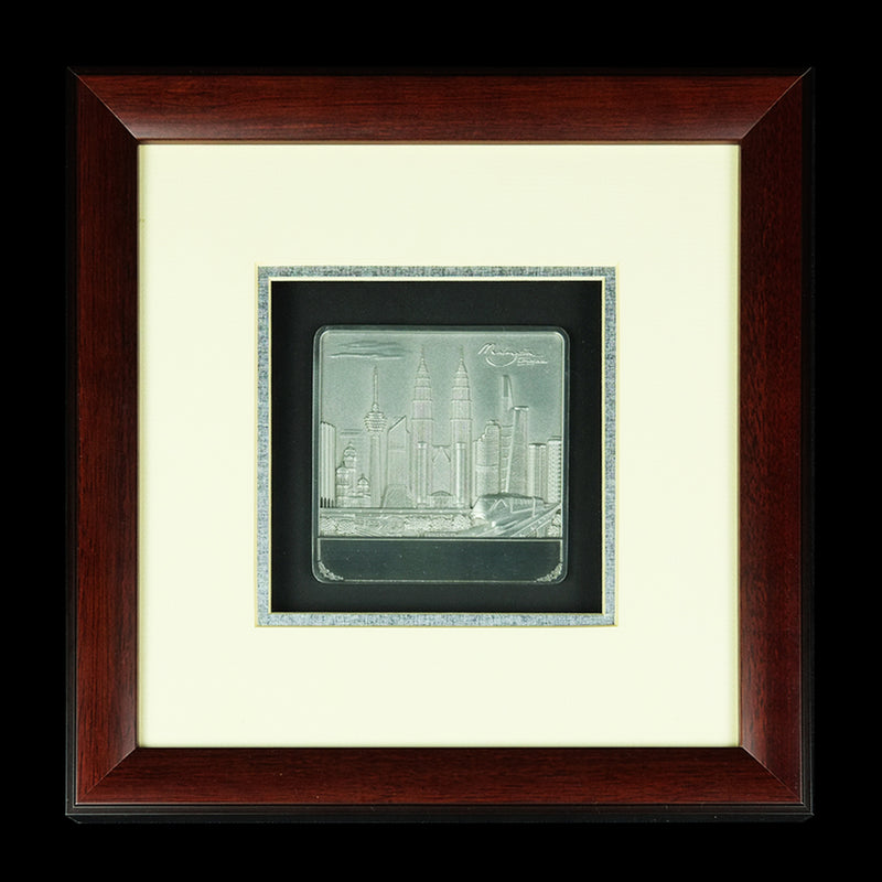 Pewter With Wood Frame (Malaysia landmark) - PF398S